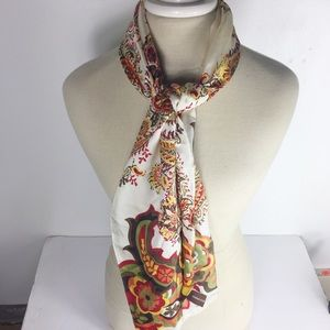 Adrienne Vittadini Earth-tones Romantic Silk Scarf